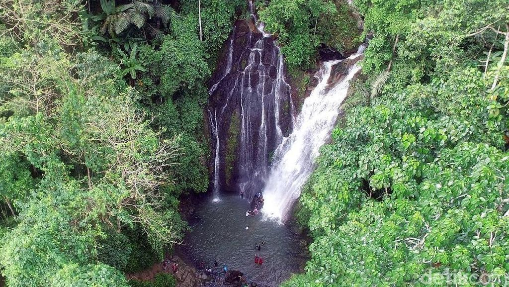 Foto: Cantiknya Air Terjun Limbong Kamandang di Polewali Mandar