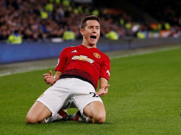 Pemain Manchester United, Ander Herrera. (Foto: Craig Brough/Action Images via Reuters)