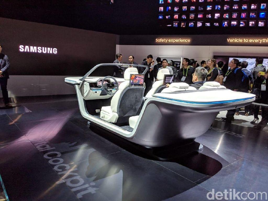 Keseruan Booth Samsung di CES 2019