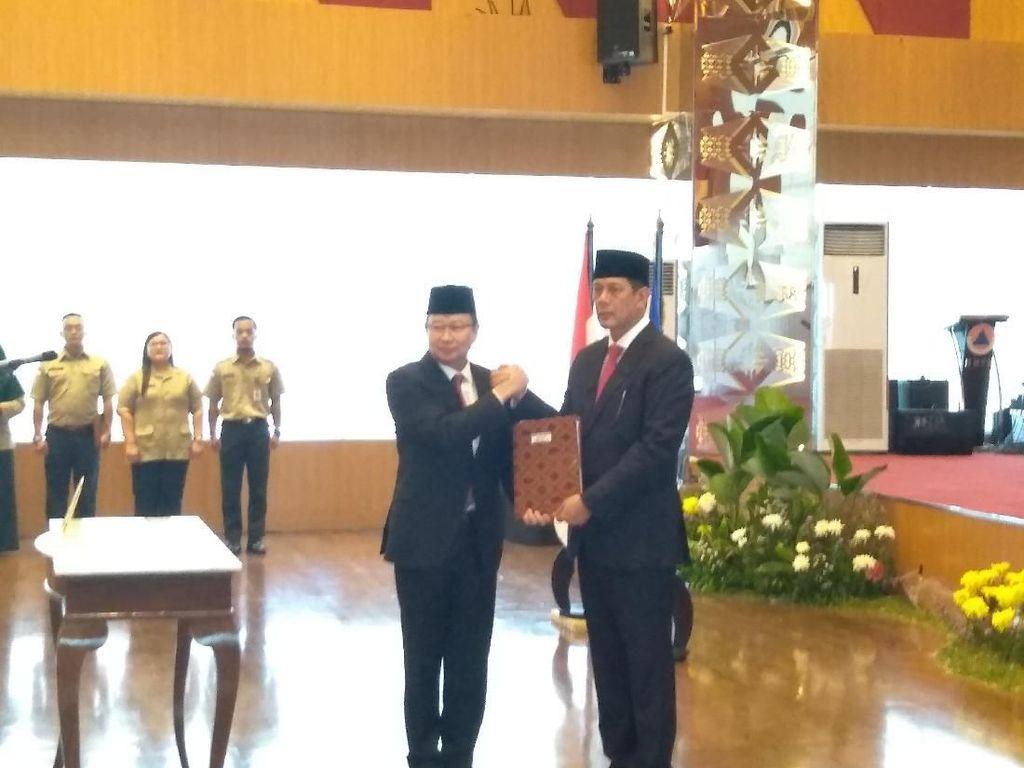 Sertijab Kepala BNPB, Willem ke Doni Monardo: Selamat Bertugas Jenderal