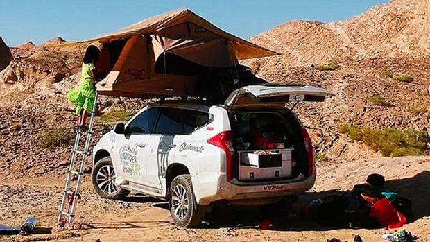 Cerita Keluarga Eelco Keliling Dunia dengan Mobil Pajero Sport