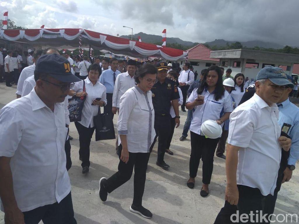 Resmikan Dua Proyek, Sri Mulyani: Perkuat Ekonomi di Timur Indonesia