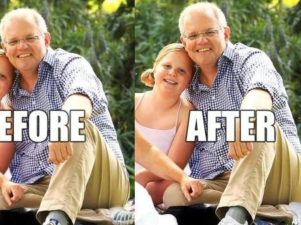 Gambar Sepatu PM Australia Scott Morrison Diganti dan Jadi Viral