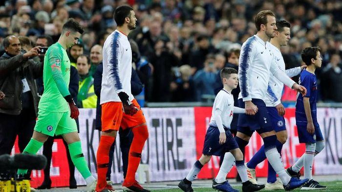 Tottenham menjamu Chelsea di Stadion Wembley dalam pertandingan leg pertama semifinal Piala Liga Inggris, Rabu (9/1/2019) dini hari WIB. Foto: Eddie Keogh/Reuters
