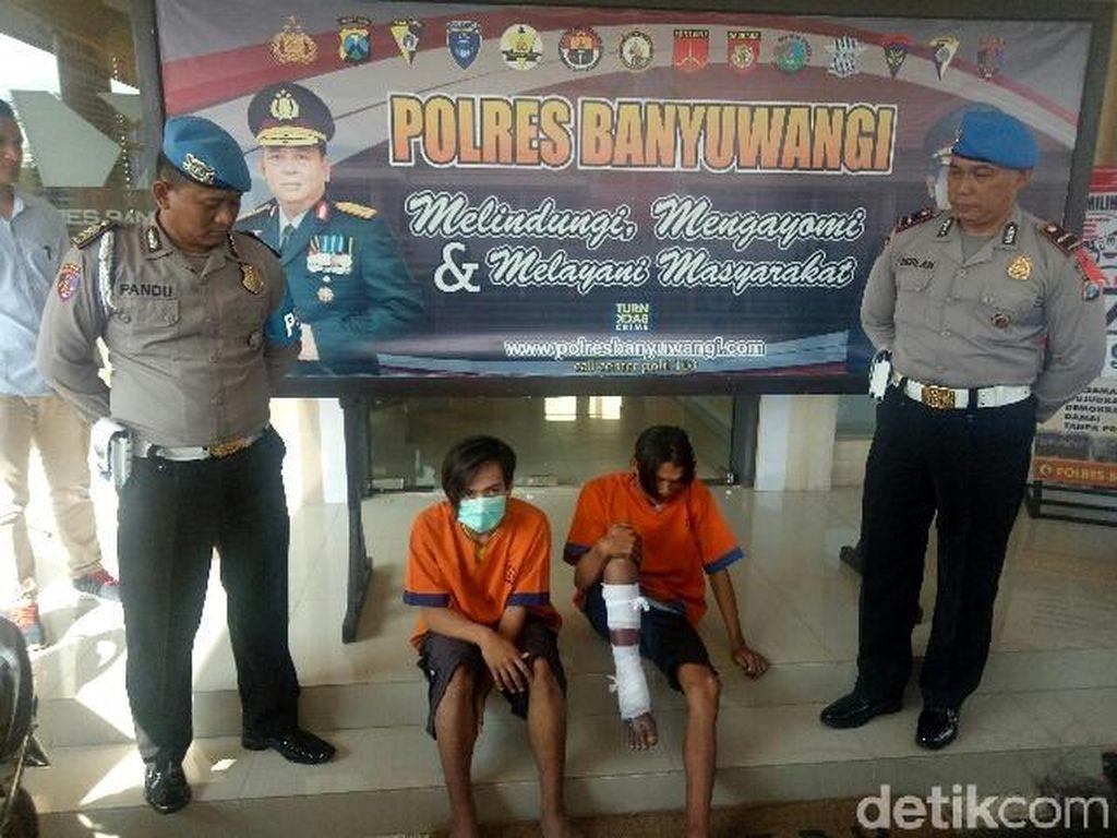 3 Pelaku Begal di Banyuwangi Ditangkap, Dua Orang Ditembak Kakinya