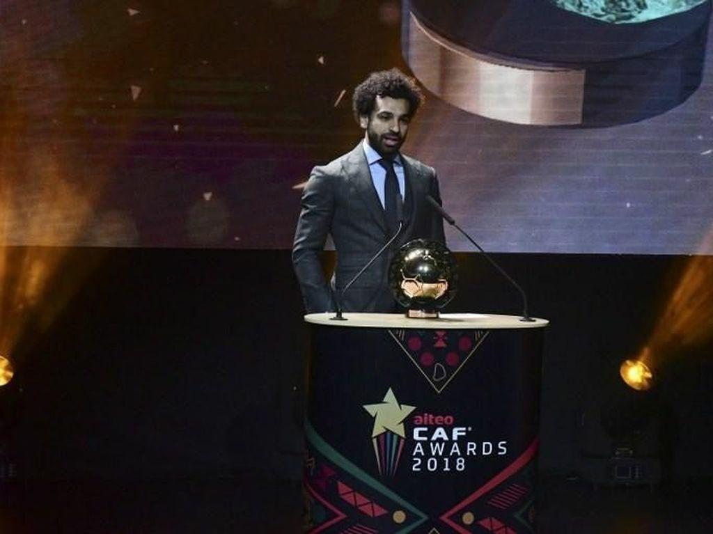 Salah, Mane, Aubameyang dalam Best XI Afrika 2018