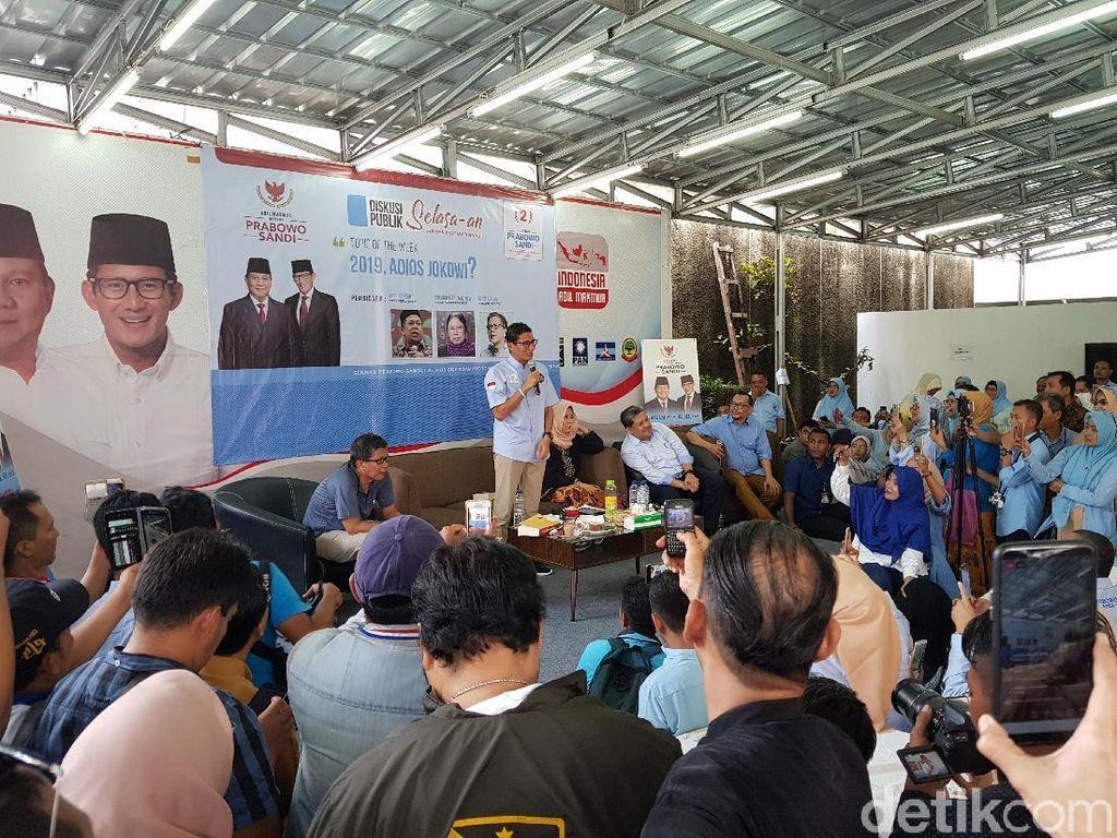 Bicara di Diskusi 2019, Adios Jokowi?, FahriSapa Sandiaga Pak Wapres