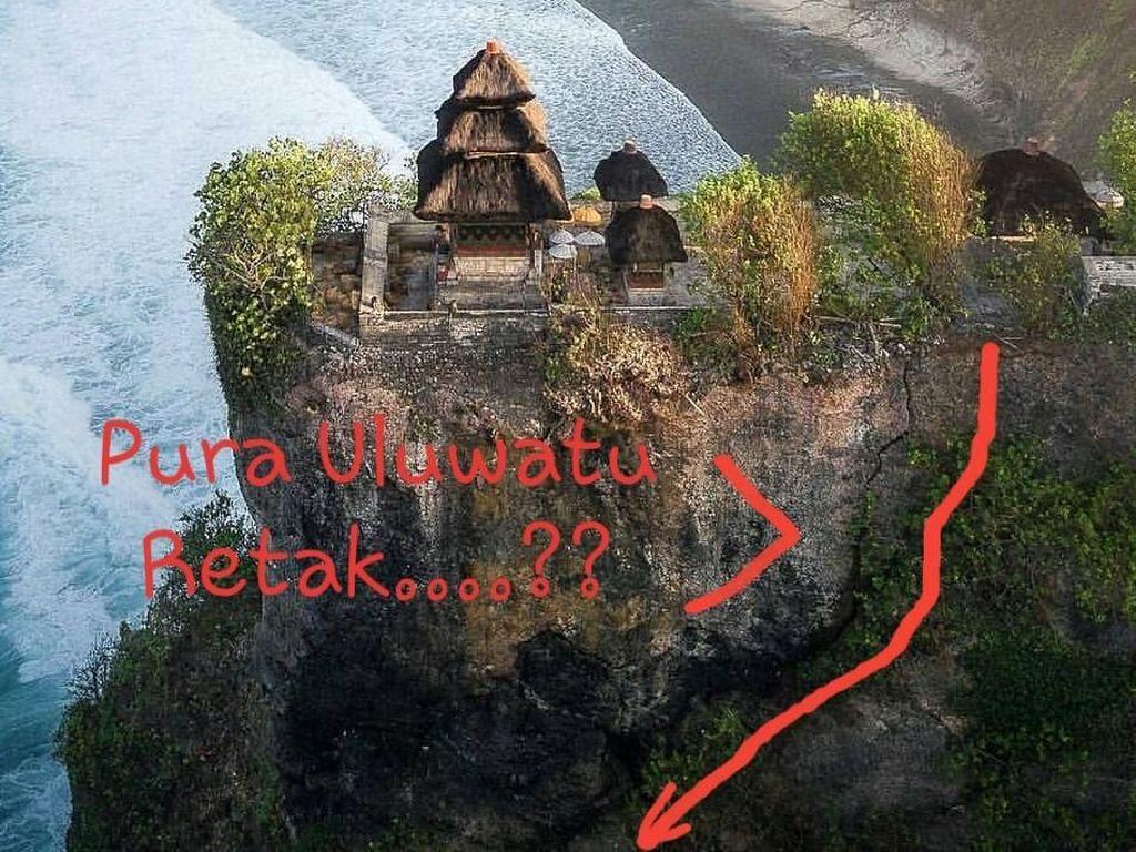 Fakta di Balik Hebohnya Tebing Pura Uluwatu Bali Retak