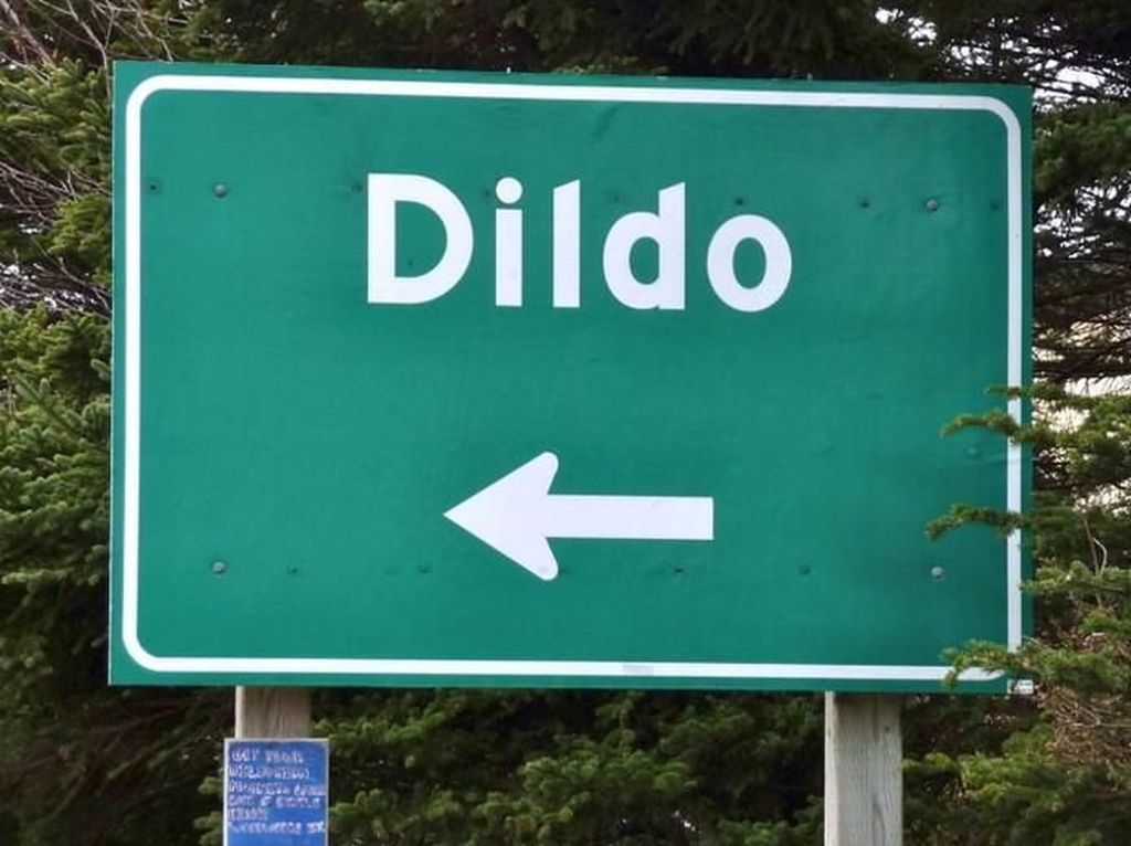 Tronjal-tronjol, Ada Kota dan Pulau Dildo di Kanada