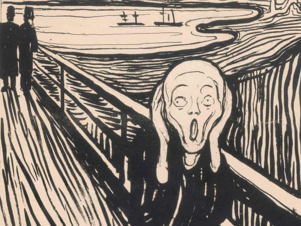 April, Litograf Langka Karya Seniman Edvard Munch Dipajang di Inggris