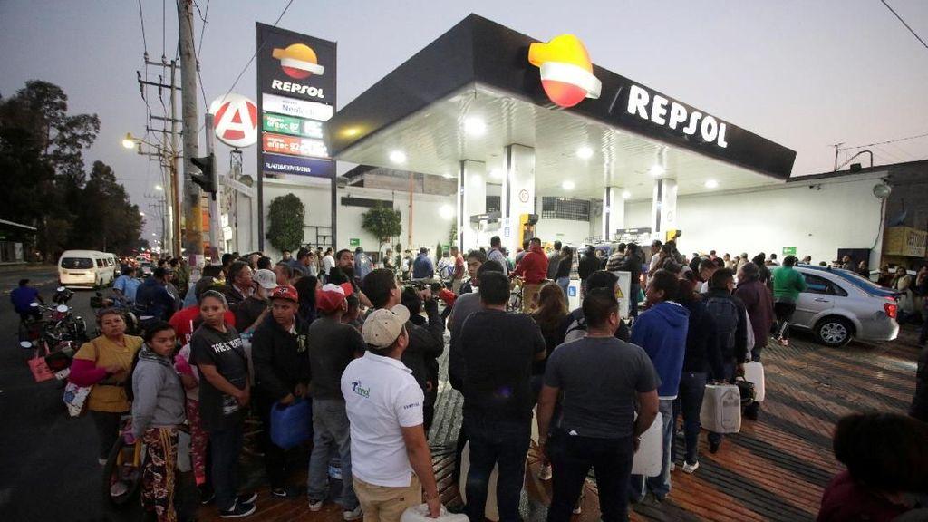 Potret Kelangkaan BBM di Meksiko