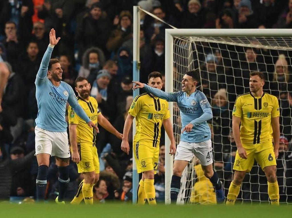 Hasil Piala Liga Inggris: Hujan Gol di Etihad, City Hajar Burton 9-0