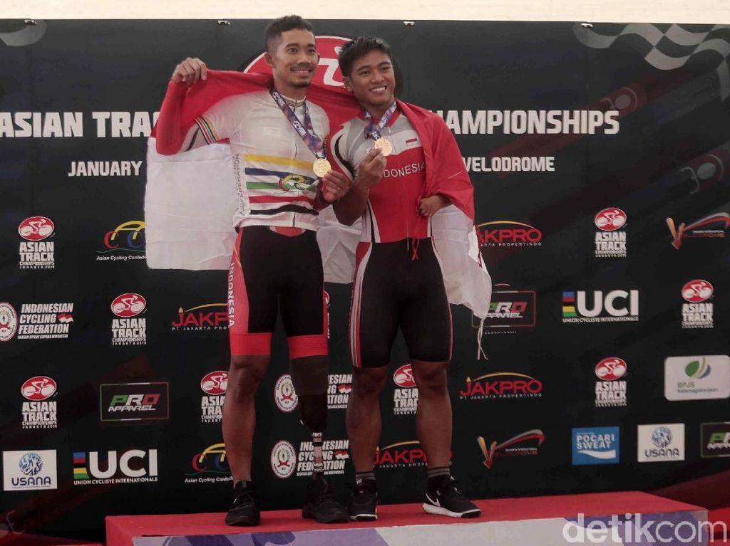 Fadli, Saori dan Tryagus Raih Medali di Kejuaraan Asia Balap Sepeda