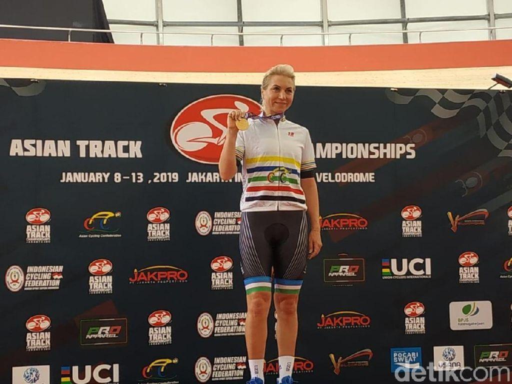 Meski Juara, Pebalap Uzbekistan Ini Gugup di Asian Track Cycling Pertamanya