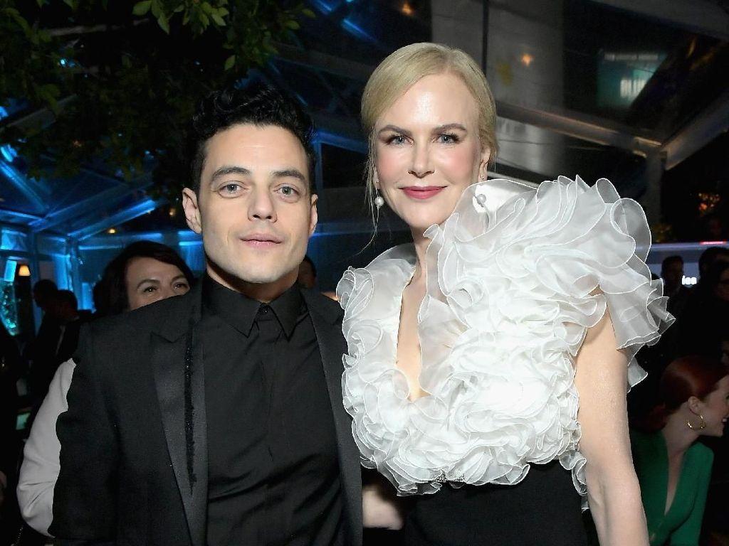 Saat Rami Malek Dicueki Nicole Kidman di Panggung Golden Globes 2019
