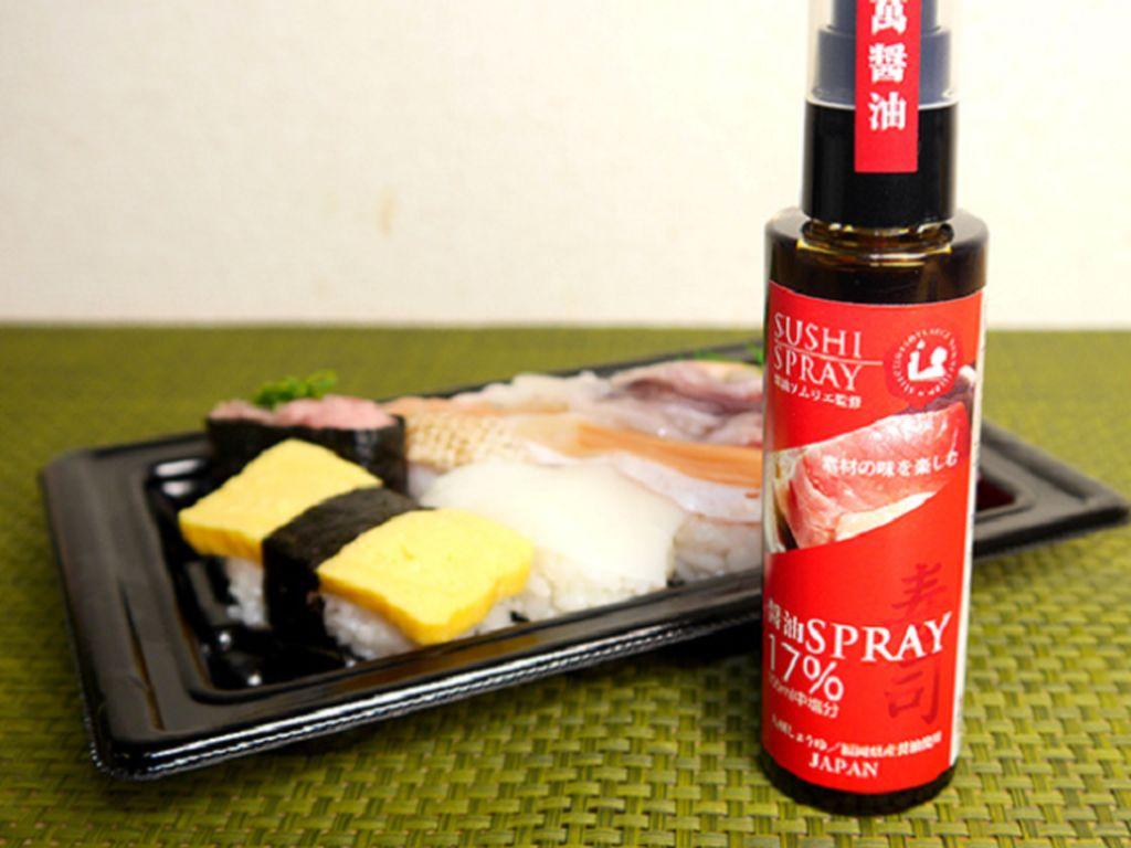 Dengan Semprotan Soy Sauce, Makan Sushi Dijamin Praktis dan Tak Keasinan!