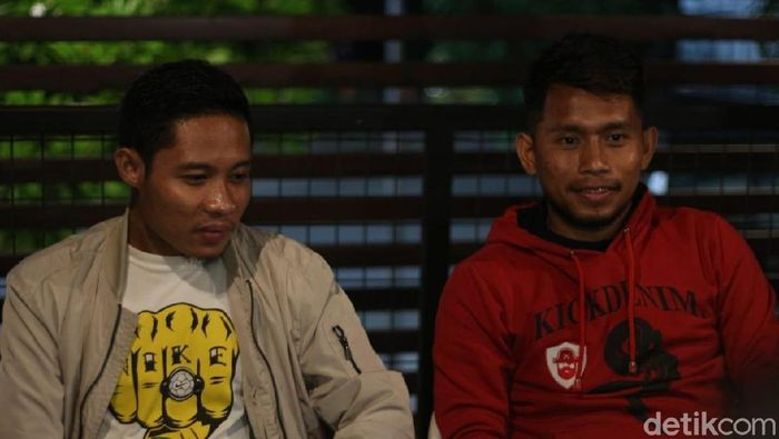 Andik Vermansah dan Evan Dimas buka-bukaan di depan bonek (Deny Prasetyo Utomo/detikSport)