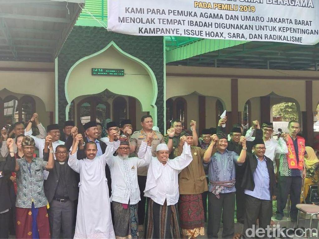 Tolak Ada Kampanye, 1.000 Tempat Ibadah di Jakbar Dipasangi Spanduk