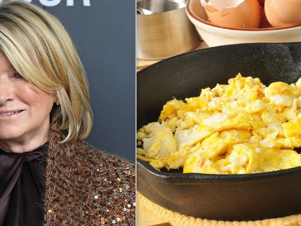 Ini Cara Baru Martha Stewart Bikin Scramble Egg yang Creamy Lezat