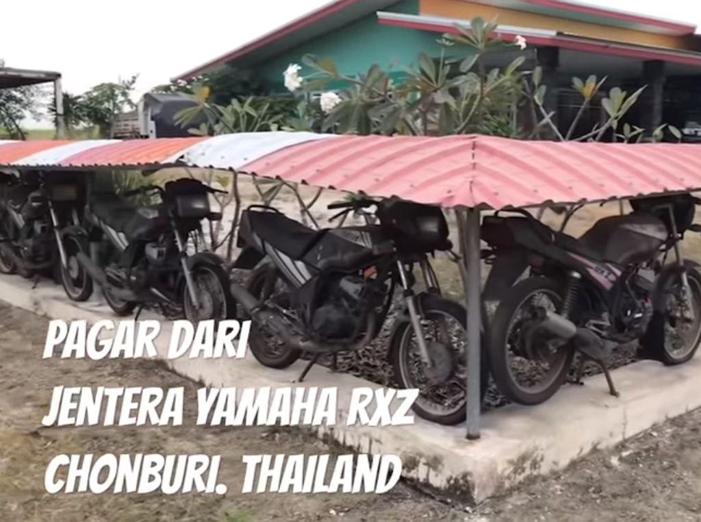 Horang Kaya! Puluhan Motor Jadi Pagar Rumah
