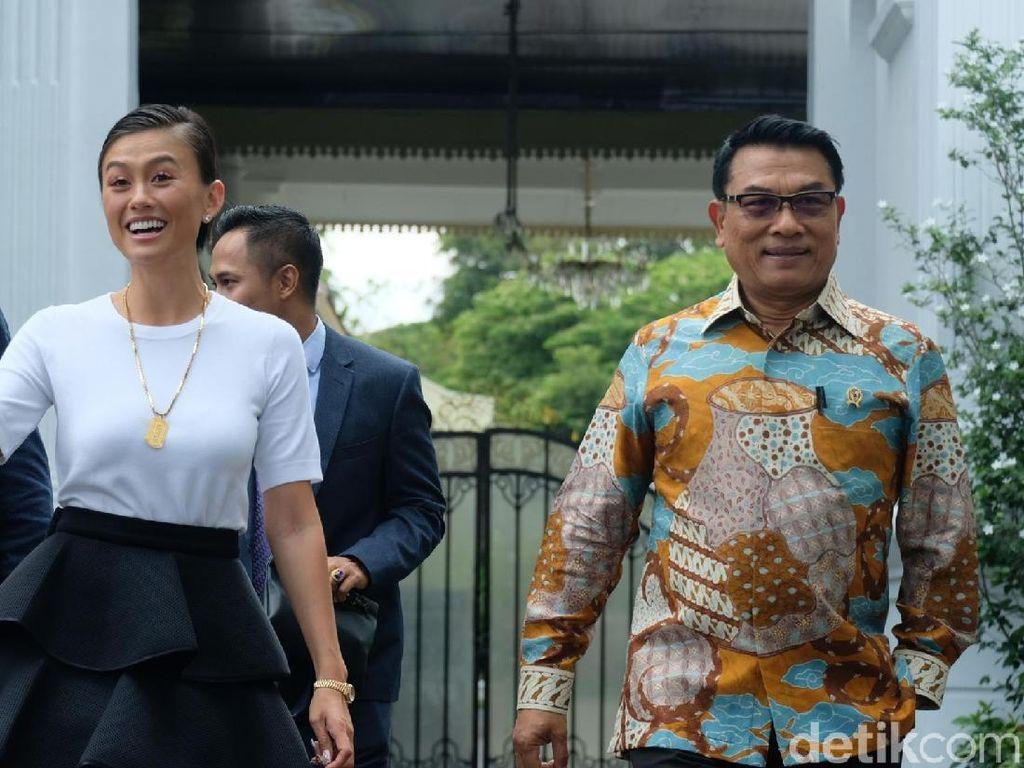 Agnez Mo Bertemu Jokowi di Istana, Bahas Apa?