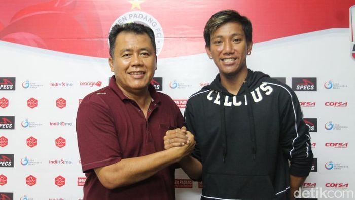 Syaiful Indra Cahya optimistis Semen Padang bisa bersaing di Liga 1 2019.  (Jeka Kampai/detikSport)