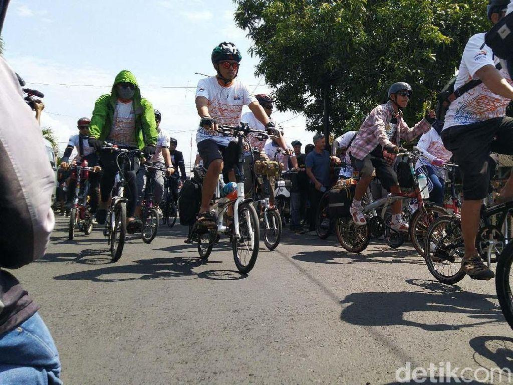 Promosi KA Galunggung, KAI Gandeng Komunitas Sepeda