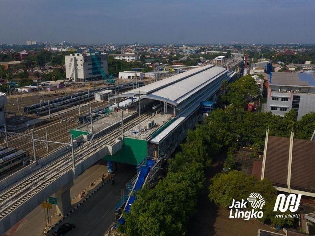 Lagi Dibangun, Begini Desain Stasiun Layang MRT Jakarta