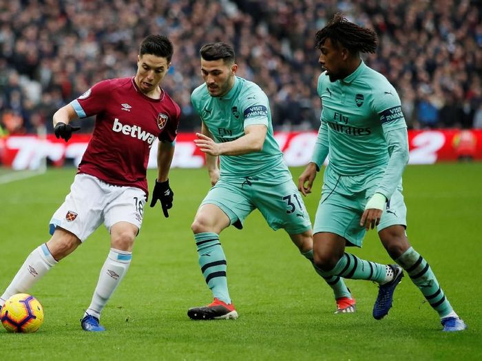 West Ham United vs Arsenal di London Stadium. (Foto: David Klein/Reuters)