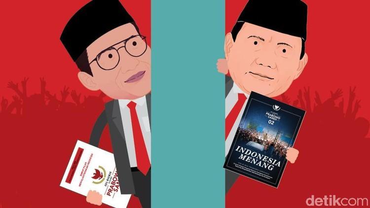 5 Perbedaan Visi Misi Lama dan Baru Prabowo-Sandiaga