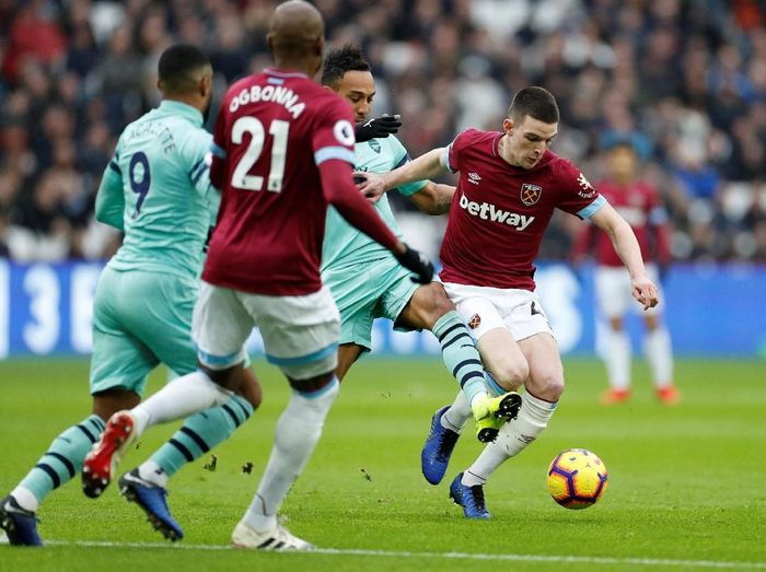 Arsenal saat melakukan lawatan ke markas West Ham United. (Foto: John Sibley/Action Images via Reuters)