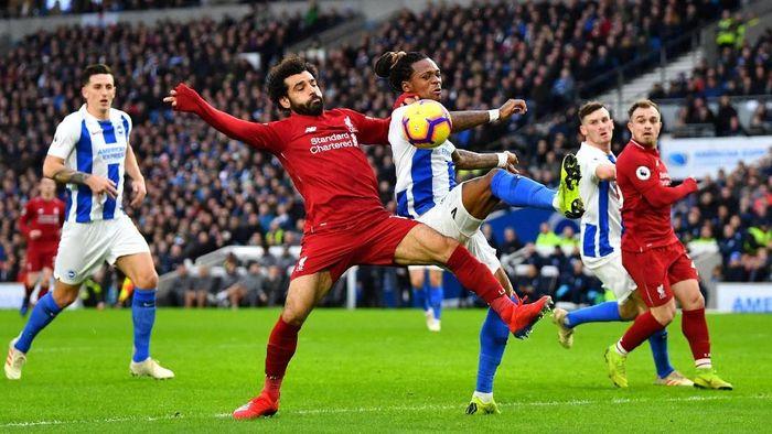 Brighton Vs Liverpool berimbang tanpa gol di babak pertama (Dylan Martinez/REUTERS)