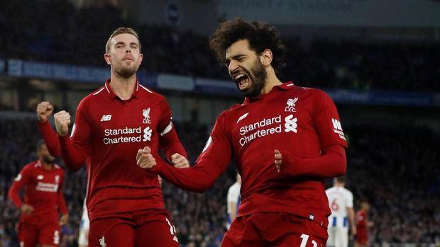 Mohamed Salah berpeluang menjadi penentu Liverpool juara Liga Inggris 2018/2019. (