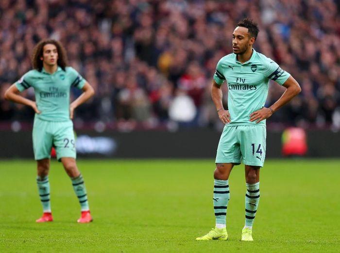 Arsenal kalah 0-1 dari West Ham United di pekan ke-22 Liga Inggris. (Foto: Catherine Ivill/Getty Images)