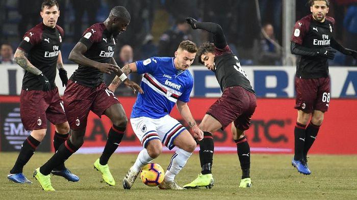 AC Milan bertandang ke Stadion Communale Luigi Ferraris, kandang Sampdoria, Minggu (13/1/2019) dini hari WIB, dalam babak 16 besar Coppa Italia. (Foto: Paolo Rattini/Getty Images)