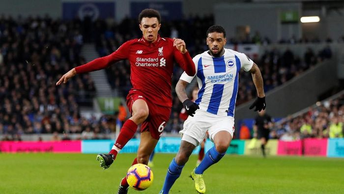 Liverpool menang susah payah di kandang Brighton (Paul Childs/Action Images via Reuters)