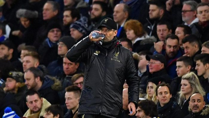 Juergen Klopp tak peduli dengan keunggulan tujuh poin Liverpool atas Manchester City (Dylan Martinez/REUTERS)