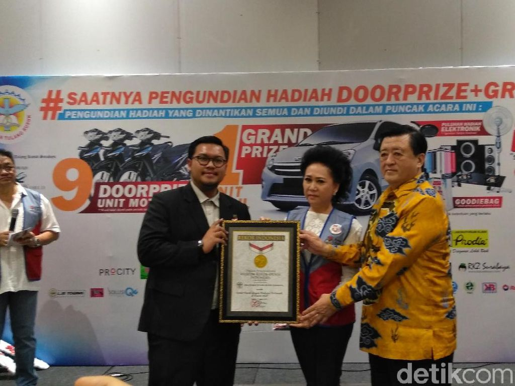 Donor Darah di Mal Surabaya Sabet 2 Rekor MURI, Apa saja?
