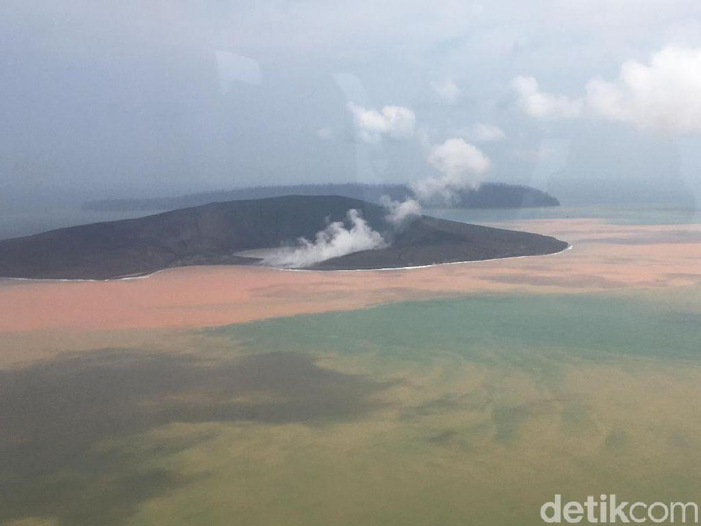 Gunung Anak Krakatau Erupsi, Status Masih Waspada