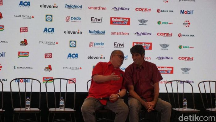 Stefano Cugurra Teco saat perkenalan sebagai pelatih Bali United (Aditya Mardiastuti/detikSport)