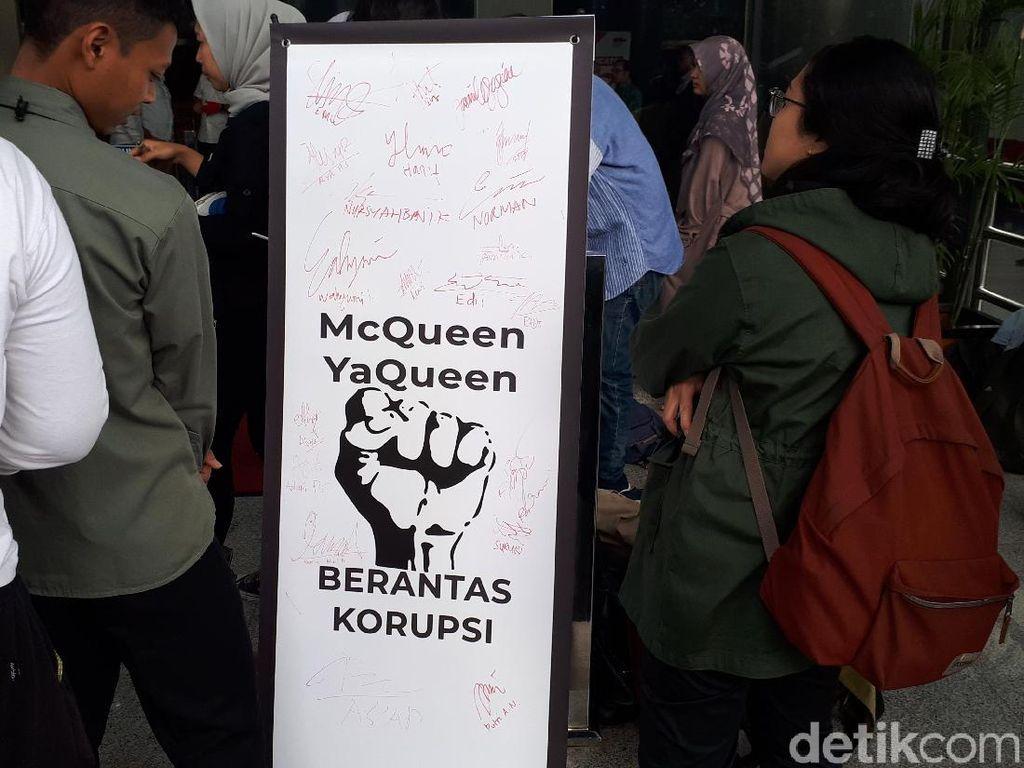 KPK Dapat Dukungan Lawan Teror, Biar McQueen YaQueen Berantas Korupsi