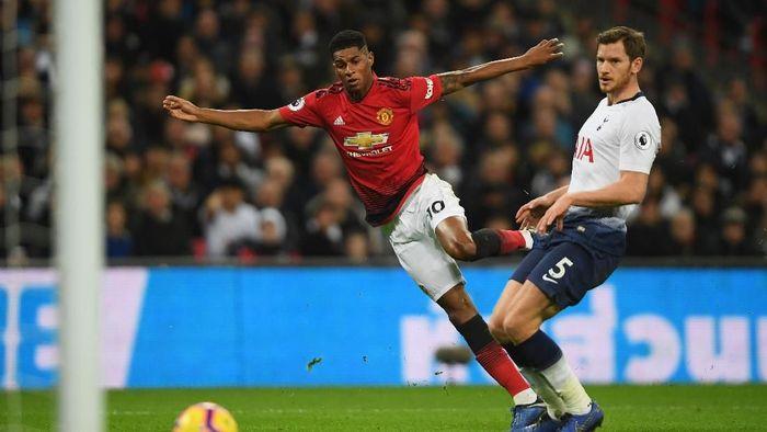 MU taklukkan Tottenham 1-0 di Wembley. (Foto: Mike Hewitt/Getty Images)
