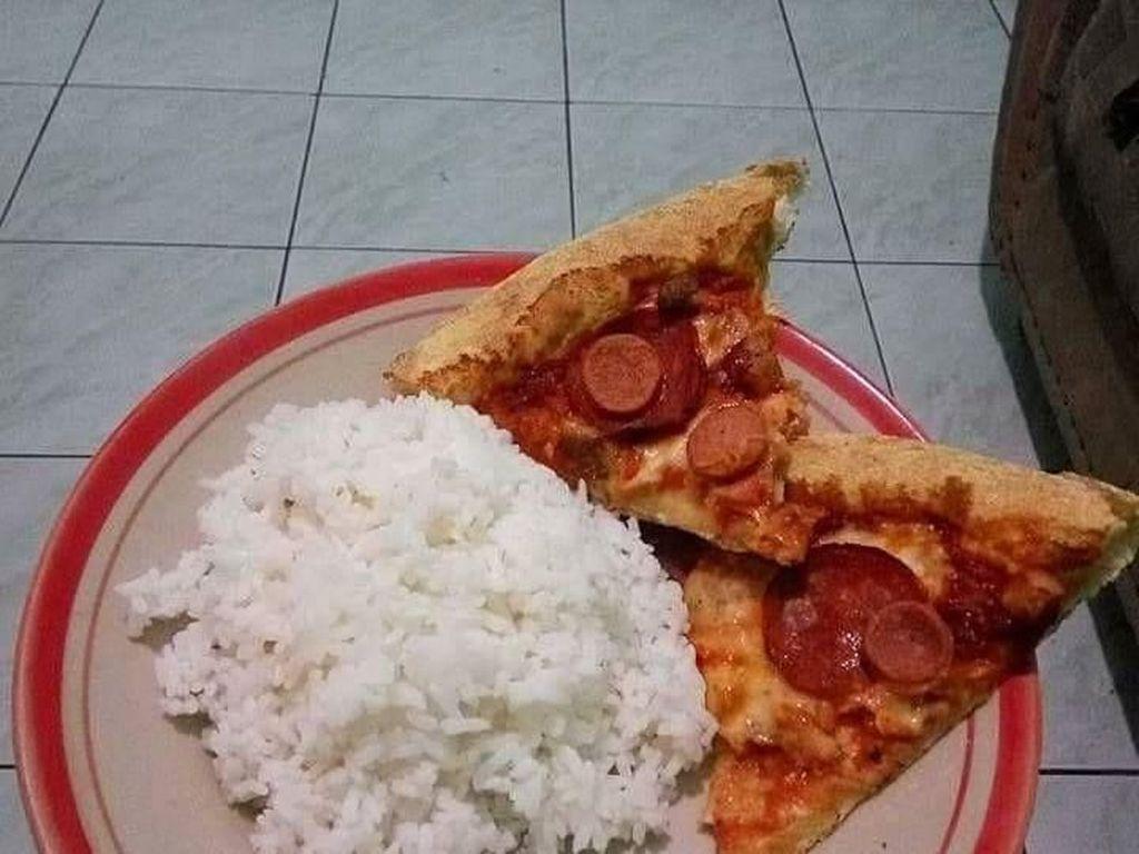 Penistaan! Nasi Dimakan dengan Pizza dan Mie Instan dengan Sereal Cokelat