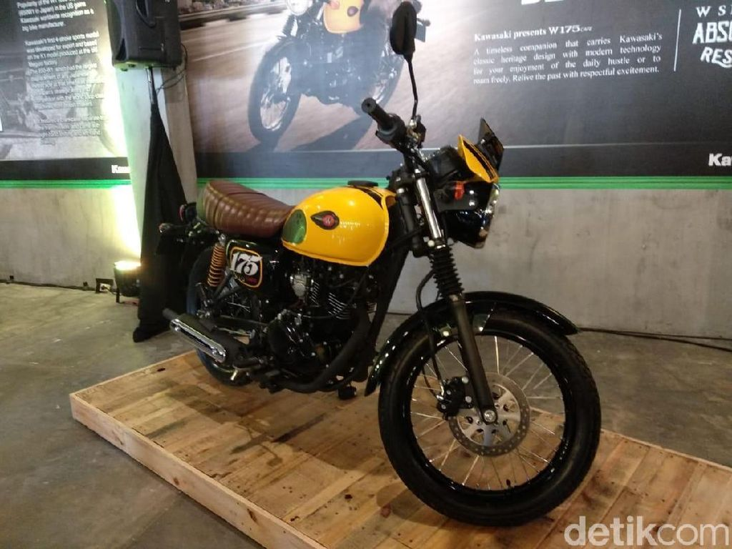 Lagi Booming Motor Klasik, Kawasaki Pede dengan W175 Cafe