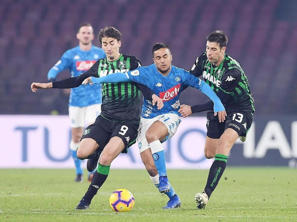 Hasil Coppa Italia: Atasi Sassuolo, Napoli Tantang Milan di Perempatfinal