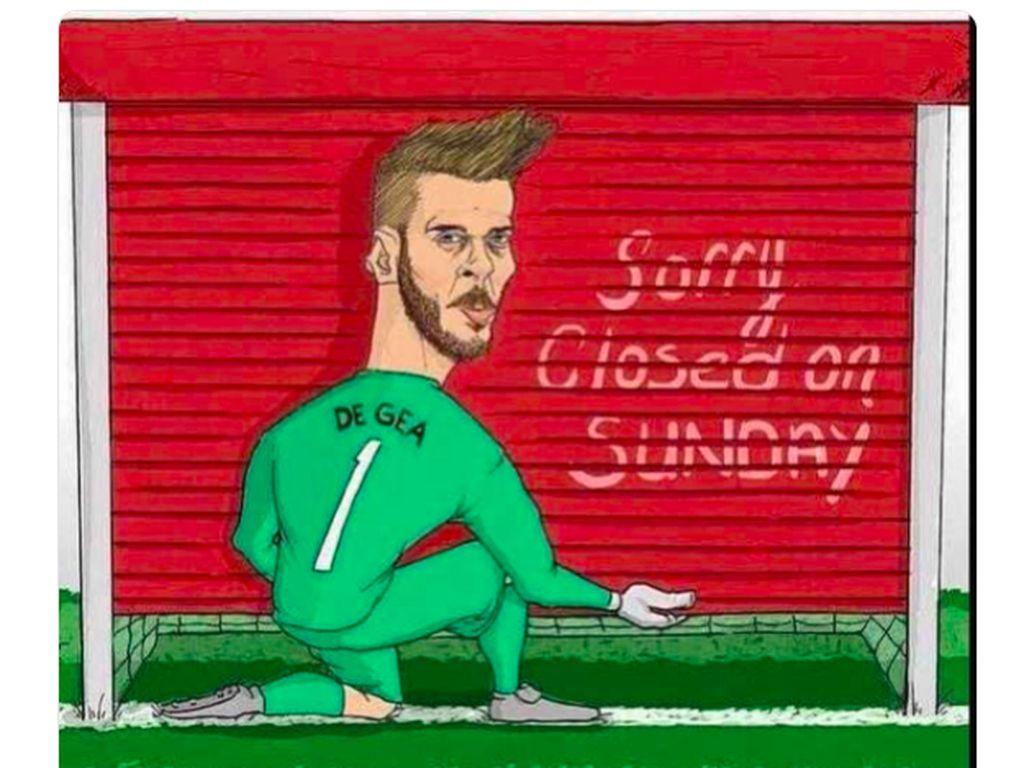 Meme-meme Penampilan Sangar De Gea Jinakkan Tottenham