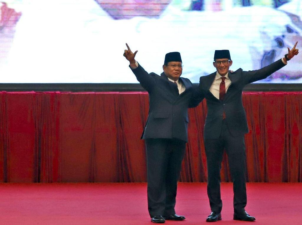 Saat Prabowo Selip Sebut Dirinya Pasangan Nomor Urut 01