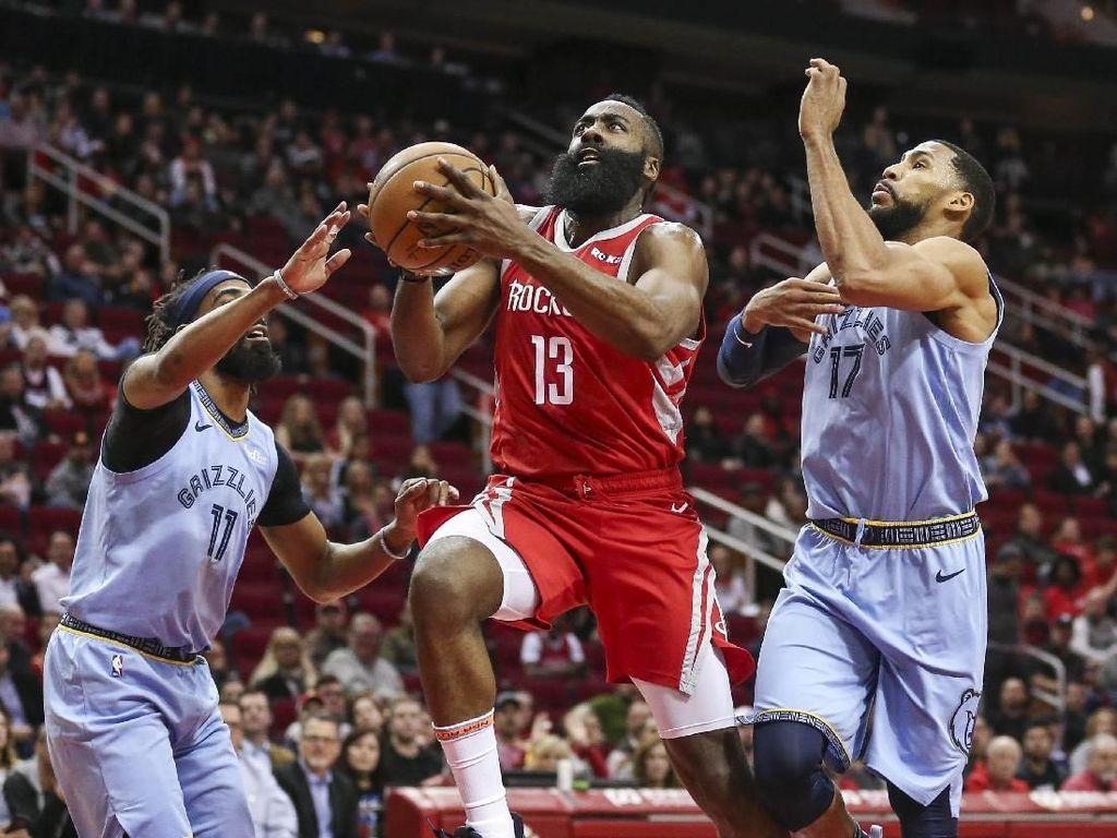Hasil NBA: James Harden 57 Poin, Rockets Kalahkan Grizzlies