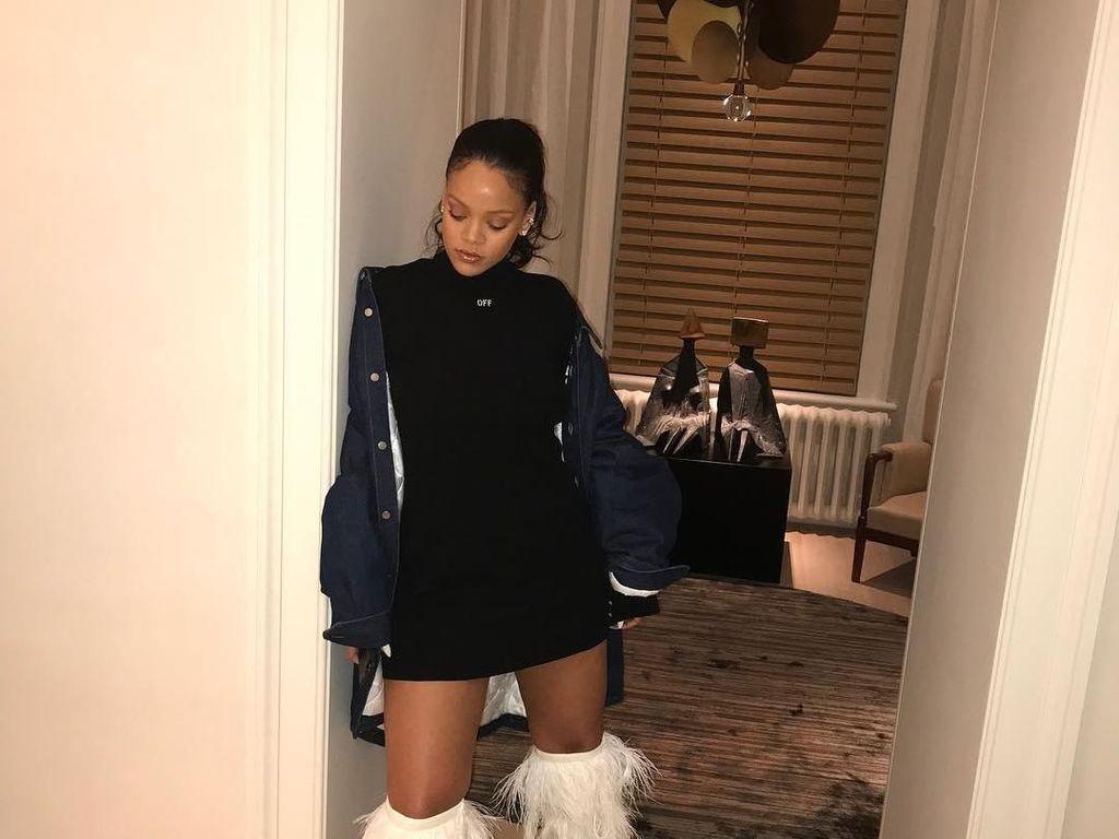Boots Bulu Rp 141 Juta Ini Jadi Favorit Rihanna Sampai Khloe Kardashian