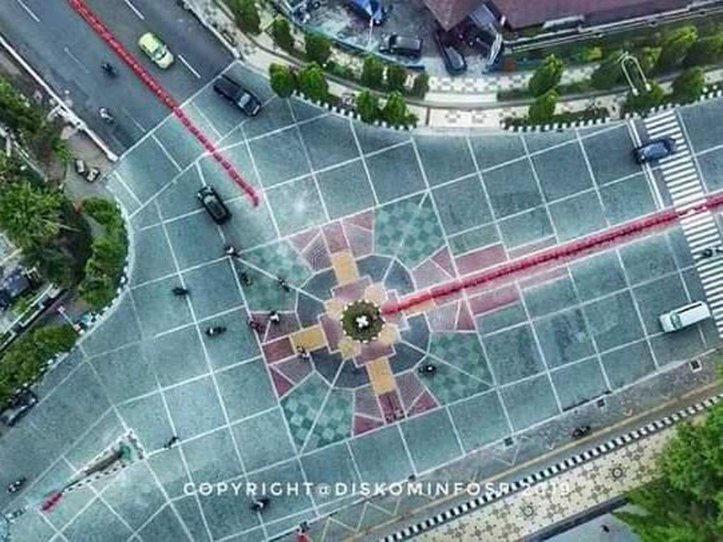 Mosaik Jalan Depan Balkot Solo Disebut Mirip Salib, Ini Faktanya